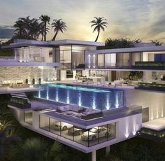 Residential and Commercial Architecture. Luxury Homes Design Dream Home Design, Modern House Design, My Dream Home, Luxury Modern House, Ultra Modern Homes, Dream Mansion, Luxury Homes Dream Houses, Luxury Life, Dream Homes