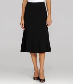 Investments Park AVE fit Gored Skirt | Dillards.com