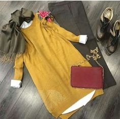 Hijab outfits Modesty Fashion, Hijab Fashion, Girl Fashion, Fashion Dresses, Fashion Looks, Casual Hijab Outfit, Hijab Chic, Islamic Fashion, Muslim Fashion