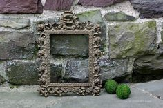 Large Ornate Gilded Gold Cast Iron Frame. by NorthMajestyTrail