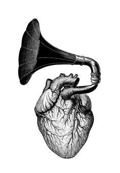 :) (illustration by Dan Hillier) Dan Hillier, Muster Tattoos, Anatomical Heart, Anatomical Tattoos, Anatomy Art, Heart Art, Art Drawings, Music Drawings, Weird