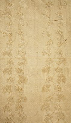 Dress (fabric detail), ca. 1820, American, silk. In The Metropolitan Museum of Art collection. (Pictures of full dress and more details are available on the museum website.)