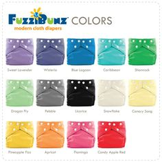 FuzziBunz One Size Elite Diapers New Colors 2013 Free Shipping