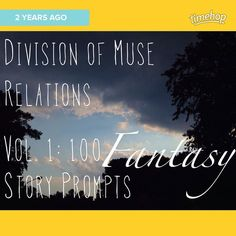 Ooh look! It's the anniversary of when I launched that book of #story #prompts! http://ift.tt/1qdffAi if you're curious!