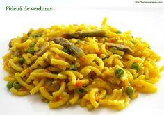 Fideuá de verduras - MisThermorecetas.com