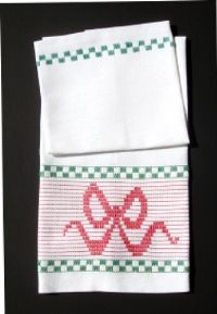 Holiday Wrap Huck Embroidery Towel Kit #HW01 by Stitch On It Direct