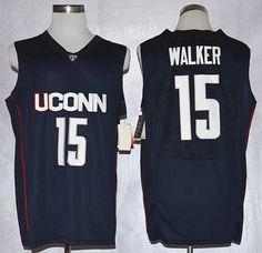 Uconn Huskies Kemba Walker 15 College Basketball Jersey Blue