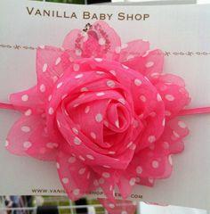 Baby headband  newborn headband  infant headband Pink by acapek88, $7.50