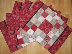 Charm pack placemats by cara quilts, via Flickr