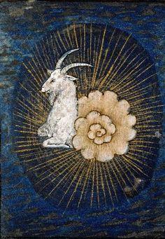 Capricorn mediaeval astrology, Zodiac signs Book of Hours (15th-16th century) Bibliothèque municipale, 5140, f.013v