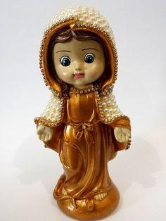 Nossa Senhora das Graças Criança com pérolas – 21 cm