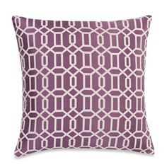 Make-Your-Own-Pillow Aaron Throw Pillow Cover in Purple - BedBathandBeyond.com