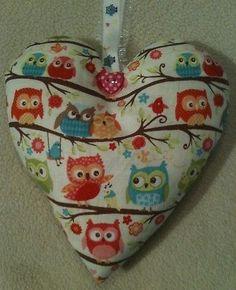 Owl Gift / Owl Fabric Lavender Bag / Owl Country Home Decor - Handmade