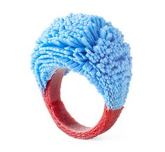 silicone and textile ring by Tzuri Gueta