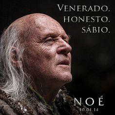 """Em """"Noé"""", Anthony Hopkins é Matusalém. Conhece este sábio de 969 anos brevemente nos cinemas. http://www.noe-ofilme.pt"""