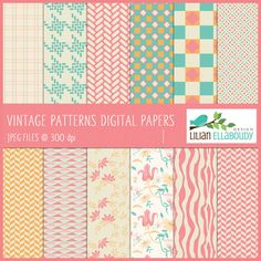 Vintage Patterns - Digital Papers & Backgrounds - Mygrafico.com