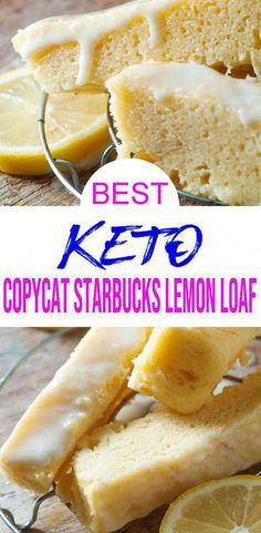{Keto Bread} Easy simple ingredient Copycat Starbucks Lemon loaf bread u will want to check out! Quick & simple ingredient ketogenic diet bread makes for a easy keto breakfast, keto snack or keto dessert. Starbucks Bread Recipe, Starbucks Lemon Loaf, Low Carb Sweets, Low Carb Desserts, Simple Keto Desserts, Quick Keto Dessert, Moist Bread Recipe, Pain Keto, No Bread Diet