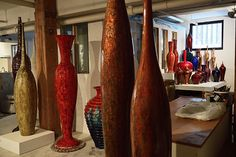 View of the studio. Zen, Contemporary Ceramics, Sculptures, Curtains, Studio, Home Decor, Atelier, Blinds, Sculpture
