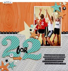 2for2 scrapbook layout by Lisa Dickinson