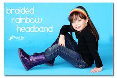 Rainbow Braided Headband Tutorial