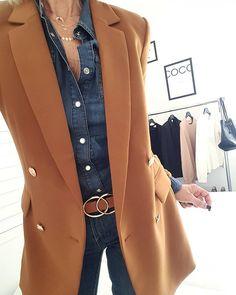 outfit with blazer Blazer Outfits, Blazer Fashion, Fashion Outfits, Beige Blazer Outfit, Blazer Dress, Dress Outfits, Mode Outfits, Fall Outfits, Casual Outfits