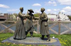 Tribute to Women's Rights Activists in Seneca Falls, NY backdrop for many scenes in Swallowed: A True Story