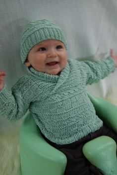 free pattern..Busy Baby Boy Sweater set