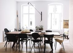 Random assortment of designer black on black chairs - could we do it ?