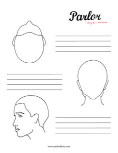 Download a free head sheet for cosmetologists / hairstylists use at classes, workshops, or in salon. Great for personal use as well.