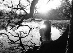 Upon reflection #lake #tree #sun #dreadlocks