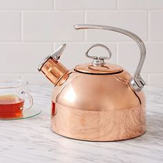 Copper Kettle at West Elm - Kitchen Tools & Utensils - Kitchen Accessories West Elm, Kitchen Decor Themes, Home Decor, Copper Tea Kettle, Copper Decor, Kitchen Essentials, Kitchen Gadgets, Kitchen Tools, Kitchen Cabinets