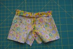 Easy Shorts Pattern for American Girl Dolls | Sew Adollable