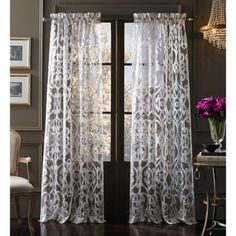 """Tango"" Sheer Window Curtain Panel (from Bed, Bath & Beyond)"