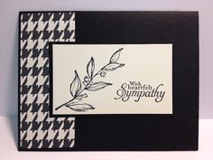 Simply Sketched Sympathy Card Stampin' Up! Rubber Stamping Handmade cards Black & White Cards
