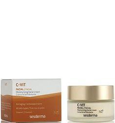 La crema facial hidratante #C-Vit de #Sesderma con Vitamina C hidrata a la vez que previene el envejecimiento cutáneo. Tu rostro recuperará toda su elasticidad y vitalidad perdidas por los agentes externos y el paso del tiempo.