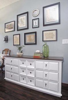 Paint a vintage dresser to give it an updated look