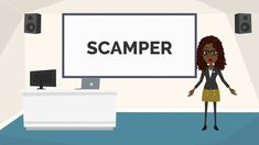SCAMPER is a creative thinking technique used to generate new ideas. Instructional Design, Creative Thinking, Literacy, Lady, Industrial Design