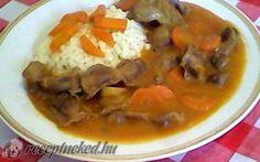 Csirke zúza Eszterházy módra Chicken Recipes, Keto, Foods, Red Peppers, Food Food, Food Items