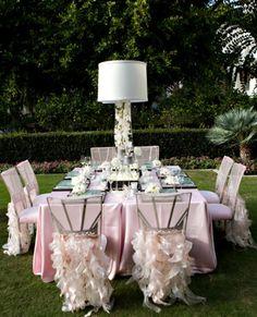 Stylish Garden wedding reception decorations