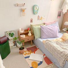 Room Design Bedroom, Room Ideas Bedroom, Bedroom Decor, Pastel Room Decor, Study Room Decor, Minimalist Room, Cozy Room, Aesthetic Bedroom, Room Inspiration