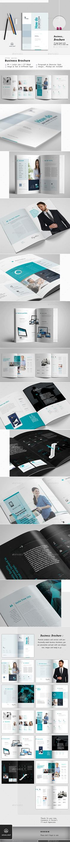Brochure Template InDesign INDD - 24 Pages A4 and US Letter Size