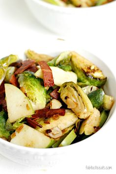 Bacon, Apple, and Brussels Sprouts Salad