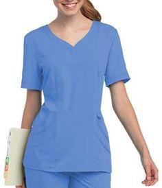 21e3eb55781 Chloé Landau Uniforms Urbane by Landau Women's Sweetheart-Neck Scrub Top  Scrub Tops, Landau