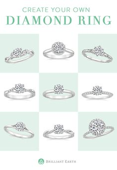 Create your own diamond ring! Select your ideal ring setting and pair it with an exceptional conflict-free diamond.