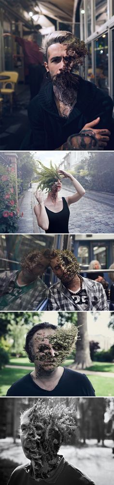 "Because using photoshop for retouch skin is so mainstream. ""Treebeard"" by Cal Redback. Totally awesome Photoshop skills for inspiration at work here - Swirlz Agency. Creative Photography, Photography Tips, Portrait Photography, Photomontage, Kreative Portraits, Surrealism Photography, Foto Art, Art Plastique, Double Exposure"