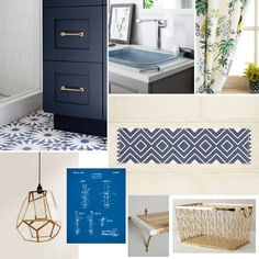 OMG, I love this gorgeous laundry room design board! All the elements are just stunning! #ad #KohlerIdeas