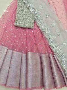 Fancy Wedding Dresses, Party Wear Indian Dresses, Designer Party Wear Dresses, Indian Fashion Dresses, Lehenga Saree Design, Lehenga Designs, Fancy Dress Design, Stylish Dress Designs, Half Saree Designs
