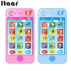 Baby Cell Phone Toy 12-18 Months Girl Boy Smart Small Mini Music Sound Pink Blue #Unbranded