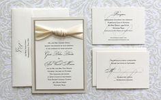 gisele + paul . knot tie invitation