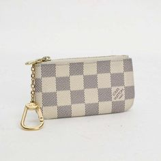 Louis Vuitton Pochette Cles Monogram Wallets White Canvas N62659